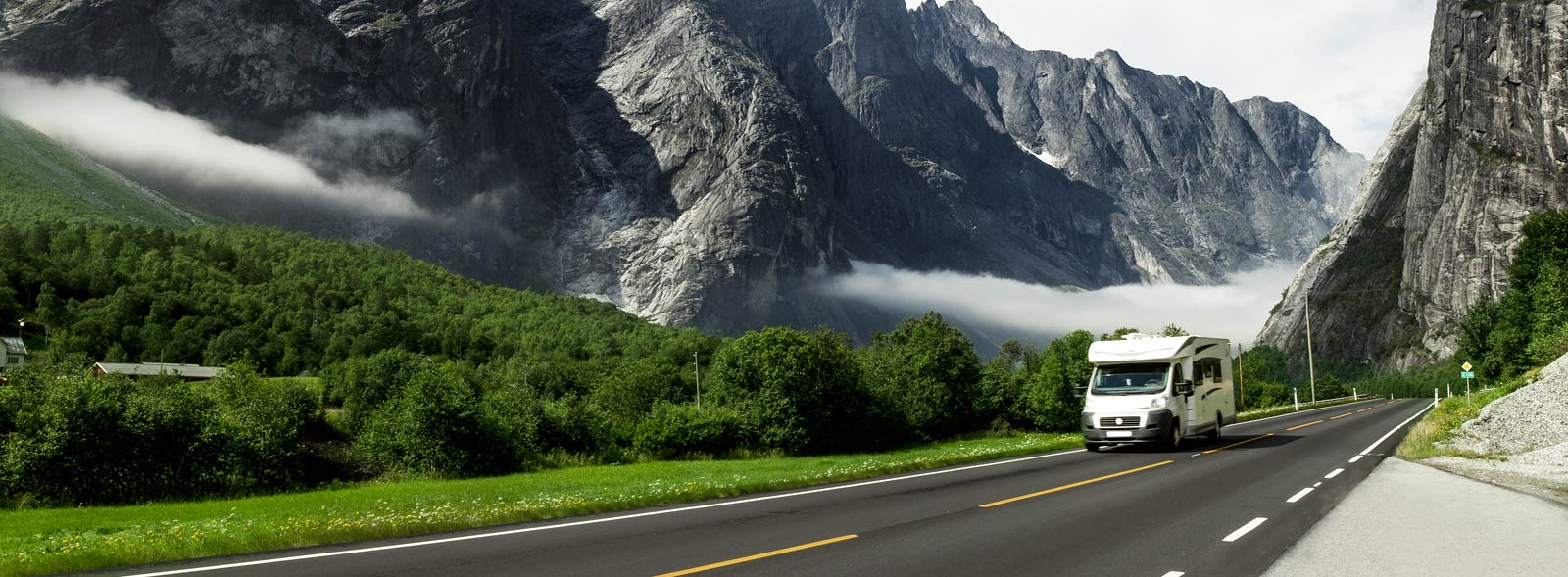 motorhome on highway
