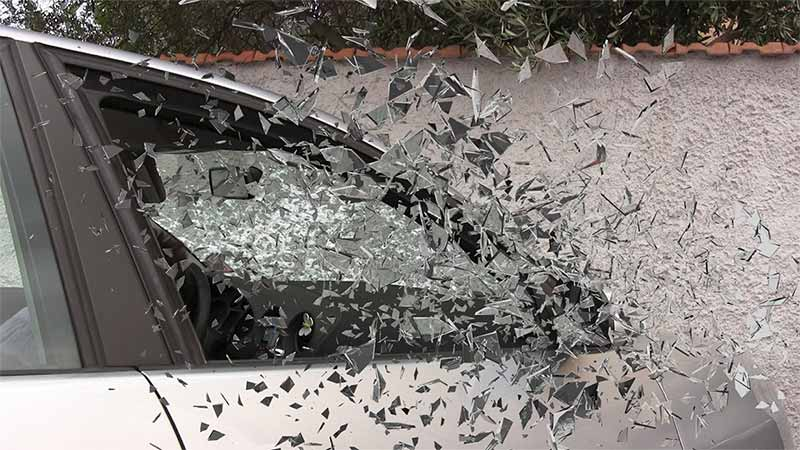 broken glass header