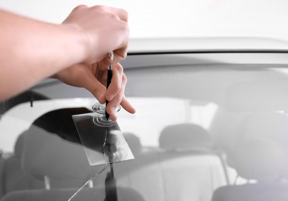 Professional windshield repair service