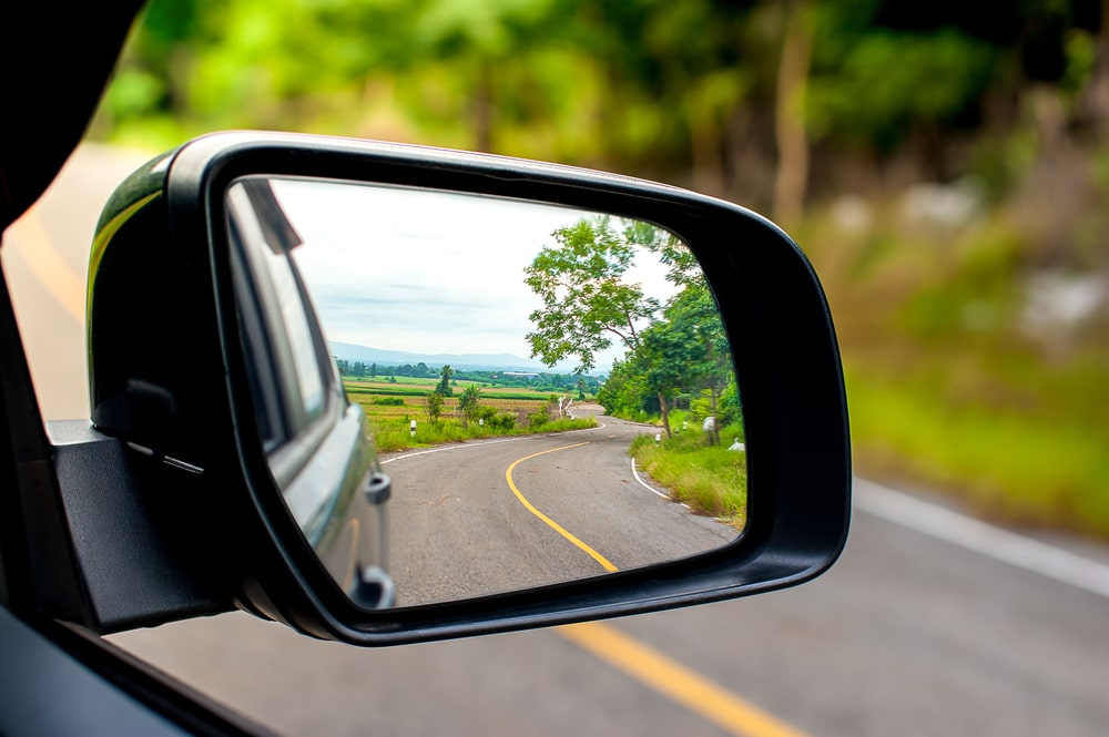 Sideview mirror of a car